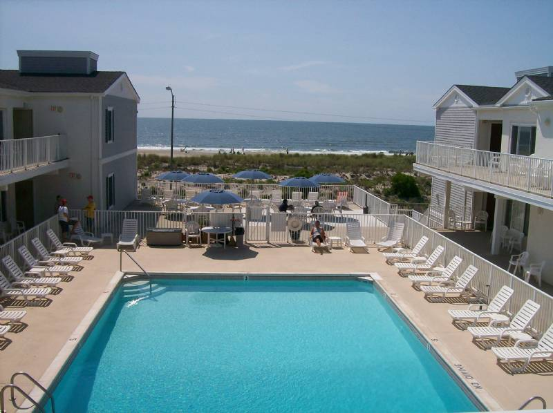 Beach & Boardwalk Front Condo with Large Heated Pool, Ocean City