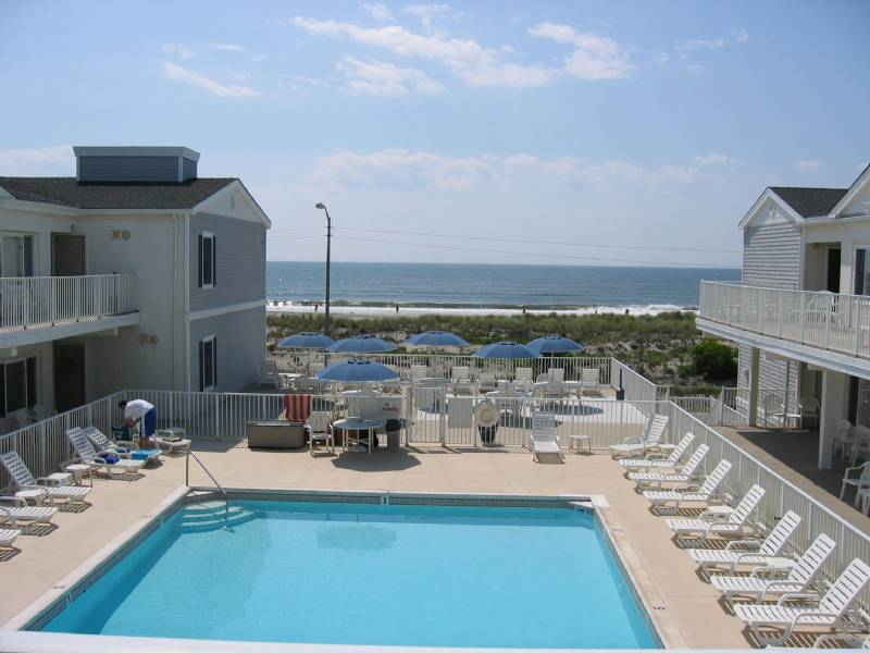 Ocean City Beach Front Condo with Heated Pool