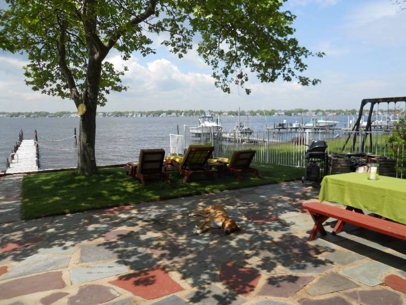 Brick Waterfront with Dock and Private Beach