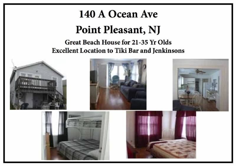 Pt Pleasant 4BR Summer House - 2 Min Walk to Jenks/Tiki Bar (Sleeps 8)