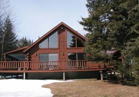 Indian Lake Waterfront Log Cabin for 6